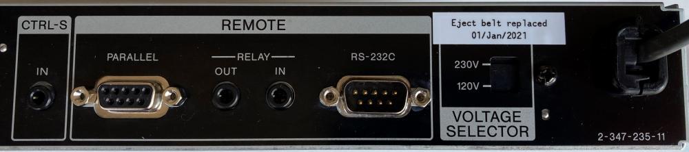 MDS-E12 external control I/O